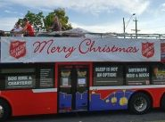 Cairns party bus drives home Christmas message
