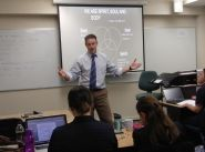Guest lecturer inspires leadership students at Booth College