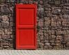 Opportunity knocks on a red door in Melbourne