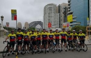 Ride for homeless sets off from Sydney