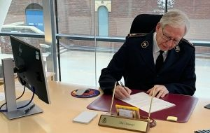 General Brian Peddle signs COVID-19 Vaccine Equity Declaration