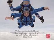 Commissioner Harry Read, 94, skydives for anti-trafficking and modern-slavery work