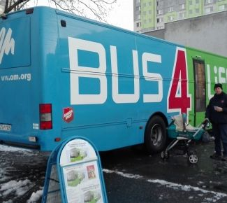 Slovakians jump on The Salvation Army's 'Bus4Life'
