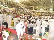 General Andre Cox enrols hundreds of soldiers in the Republic of Congo during the 80 years anniversary celebration