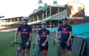 Red Shield riders ready to pedal
