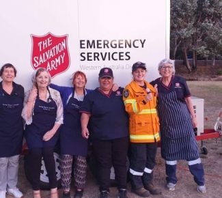 Dual focus for Salvos in bushfire relief effort