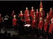 International Staff Songsters in full voice for mission